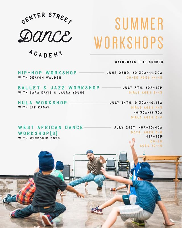 Do your kids want to keep dancing this summer? They can, at the CSDA Summer Workshops! Check them out and go to the link in bio to register! #csda #theartsatcenterstreet #meaningful #original #local