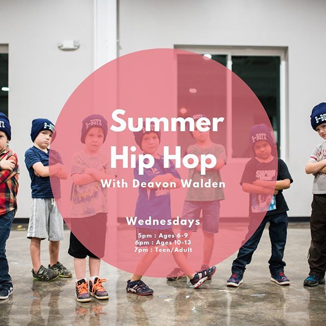 You asked... here's our answer! 5-week Hip Hip classes this Summer with guest teacher @deavonwalden. June 5-July 3. Open to kids 6 and above + adults! Click on the link in our bio to sign up today! #centerstreetdance #csda #theartsatcenterstreet