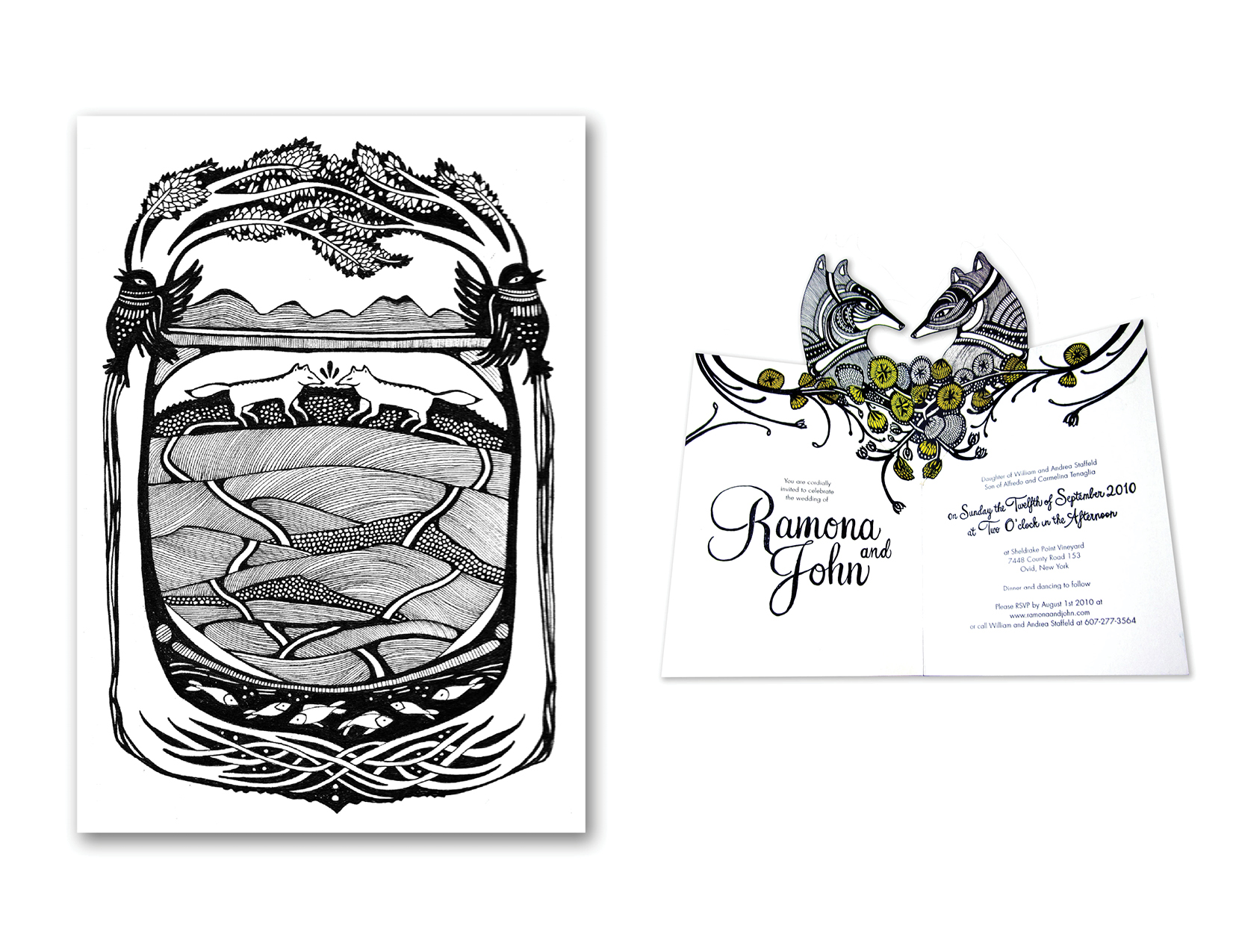 Ramona and John Wedding Invite