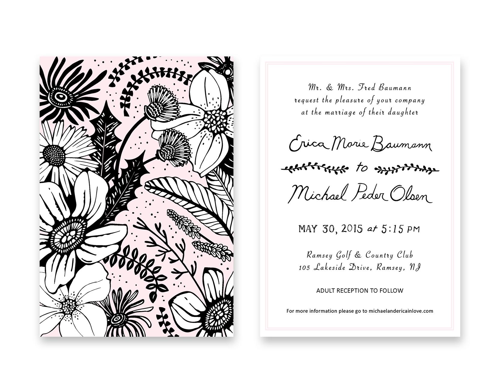 Erica and Michael Wedding Invite