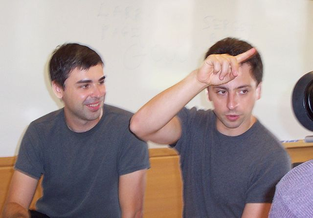 Larry Page (left) and Sergey Brin, the Co-founders of Google. Photo credit: Ehud Kenan