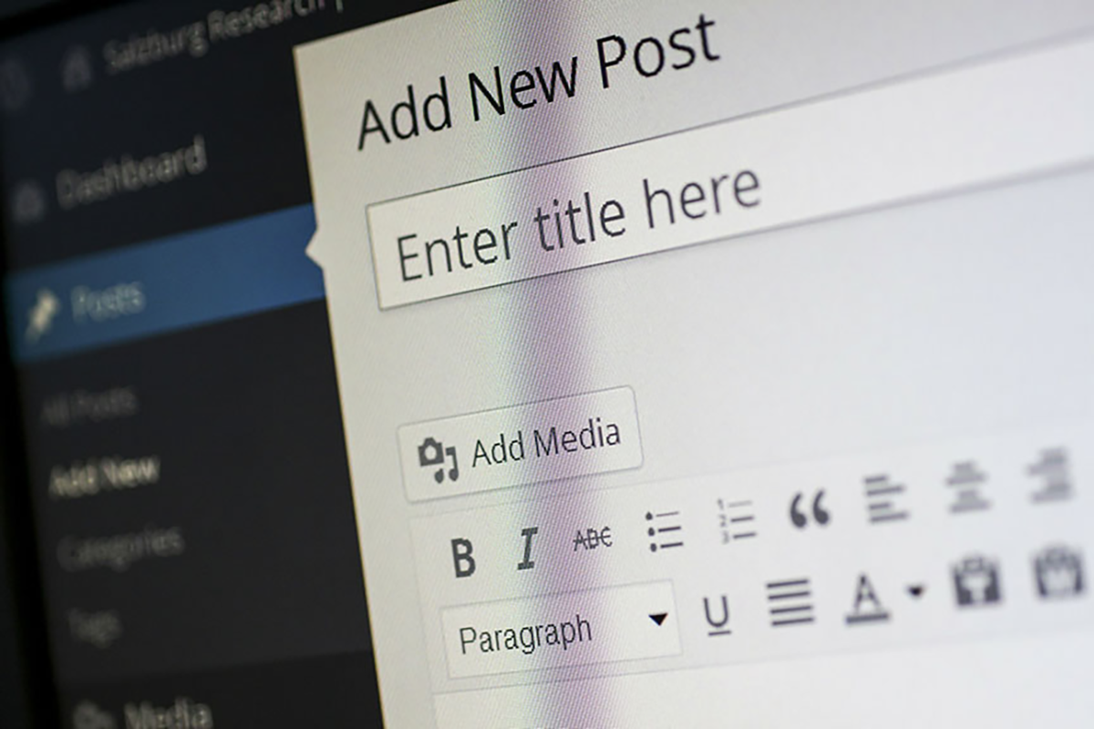 Content Management Systems (CMS) like WordPress--pictured here--are popular because they allow business owners to edit content such as SEO Title Tags quickly and easily.