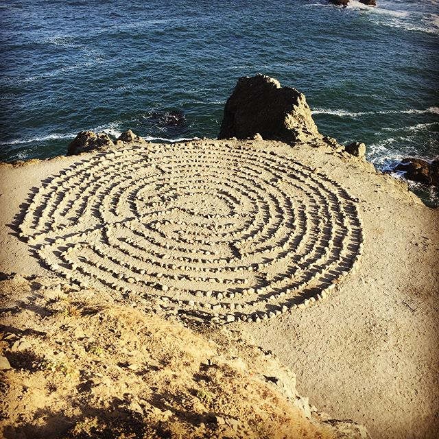 Pretty sweet morning to work on the labyrinth...I've been holding on so tight and this special piece of land constantly reminds me, TO...LET....GO.  Thanks for the much needed reminder #landsendlabyrinth #peace#love#enlightenment