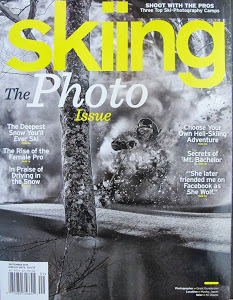 Skiing, The Photo Issue, October 2013     The Rise of the Female Pro:  A look at the media, films, stories, and other work female athletes are doing to promote themselves.
