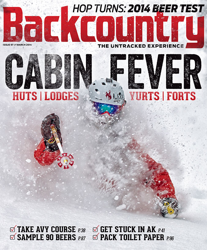 Backcountry Magazine, February 2014    That Guy: Peter Linn:  Skiing with taciturn cowboy, patroller, and ski mountaineer Pete Linn.   Hot Spring:  The best skier's hot spring ever, deep in an isolated Andean valley on the Chile/Argentina border, days from anything.