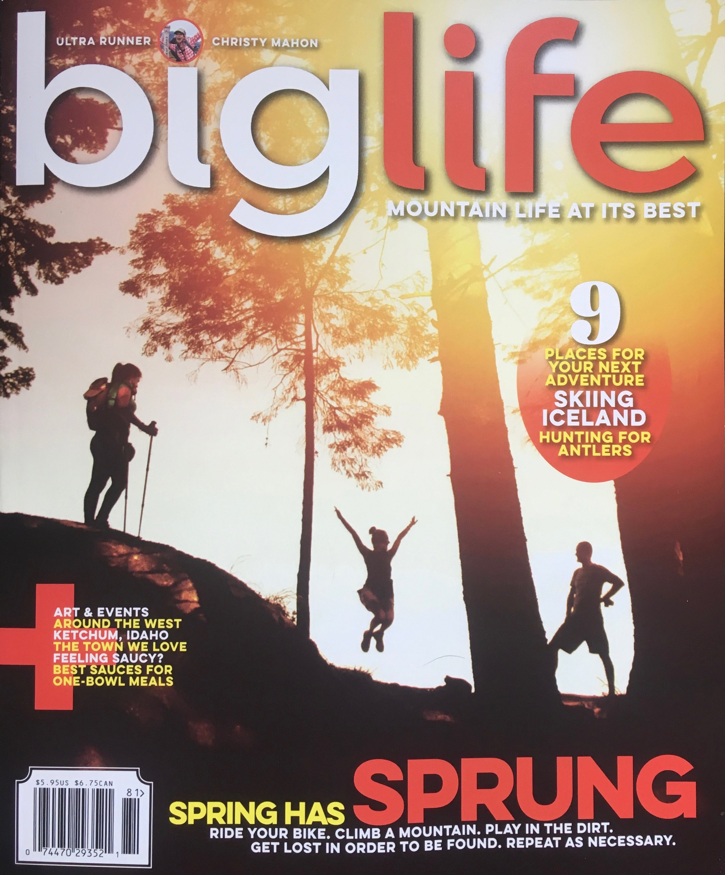 Spring Issue, 2018   Big Life Magazine  feature on the unique sub-culture of shed hunting, with its rewards, restrictions, and, it turns out, more rewarding then antlers is observing the nuances of the complex natural world next door.