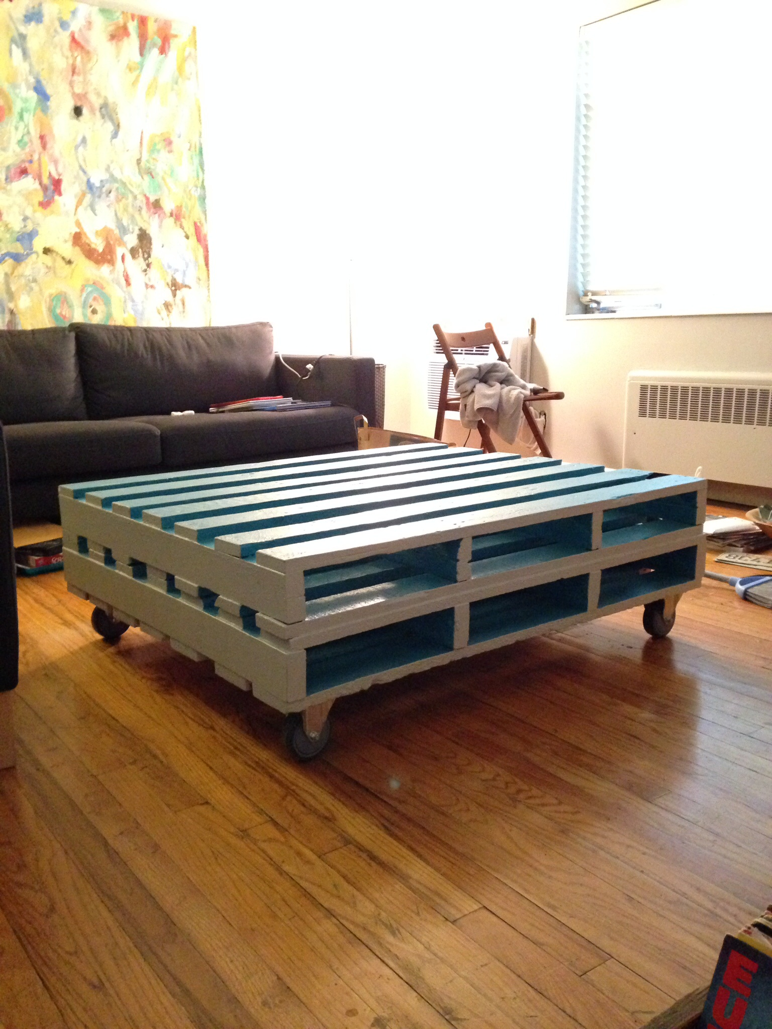 First pallet coffee table