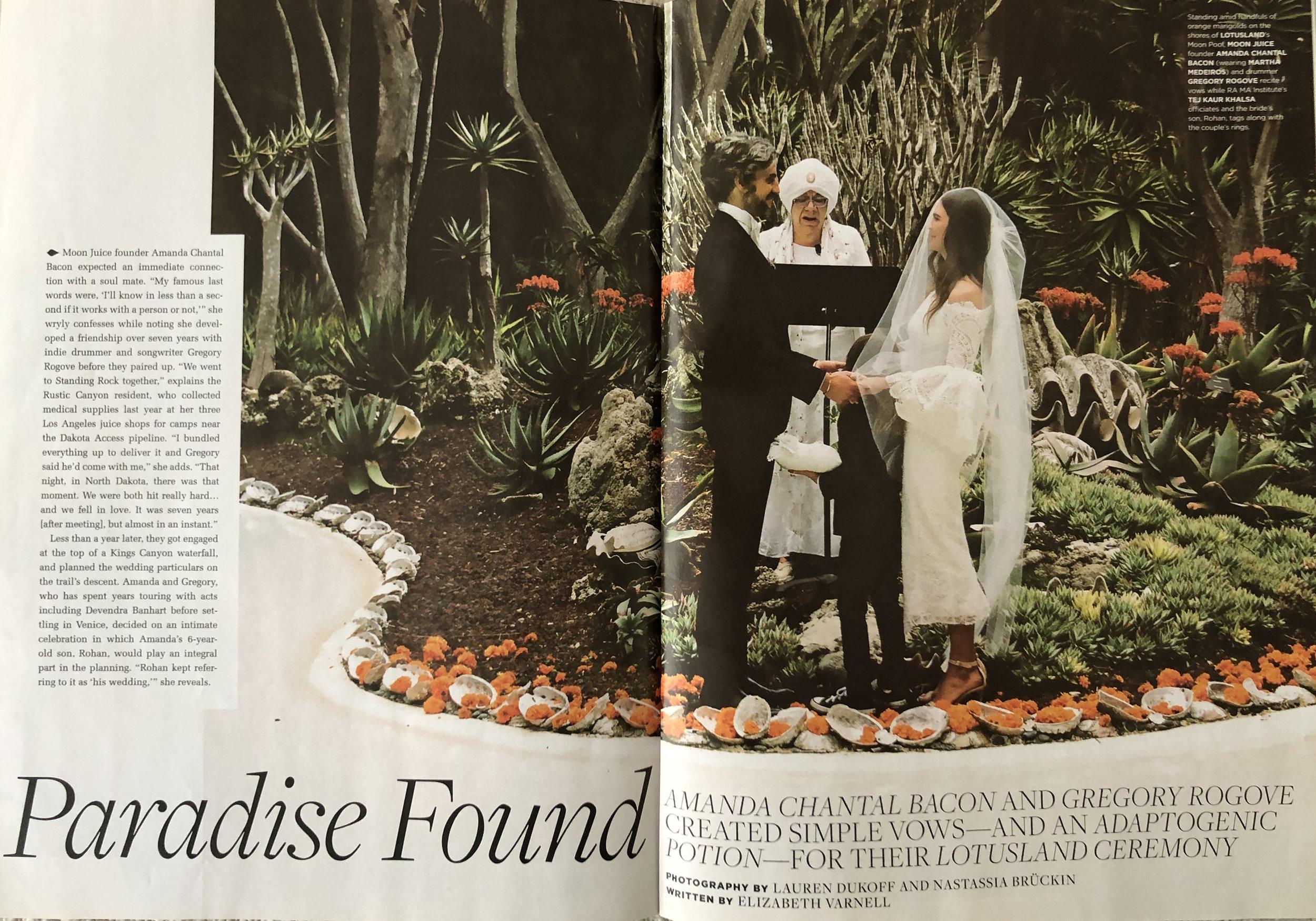 C Magazine, Wedding Feature, Paradise Found