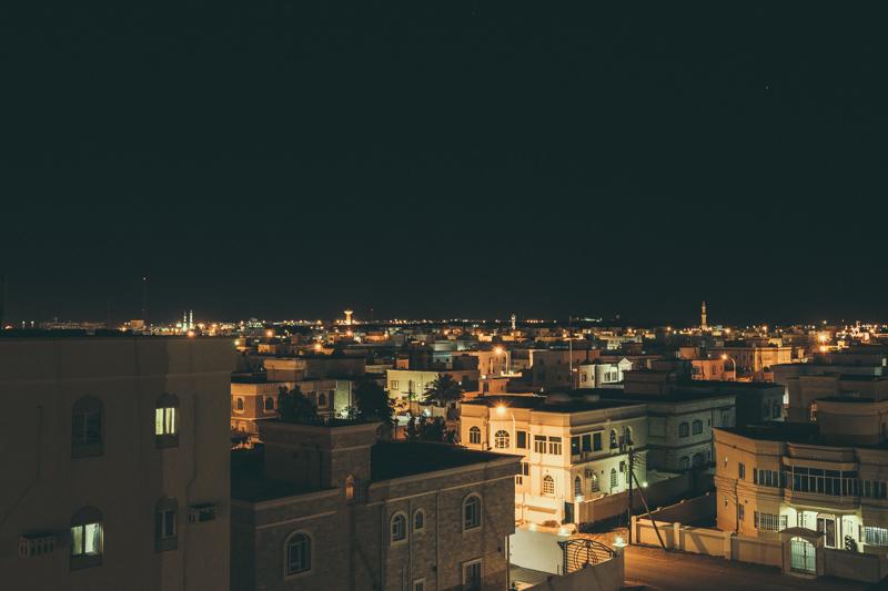 Skyline after Dark. Sur, Oman