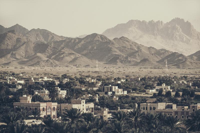 Sunset over Bahla Oasis, Oman