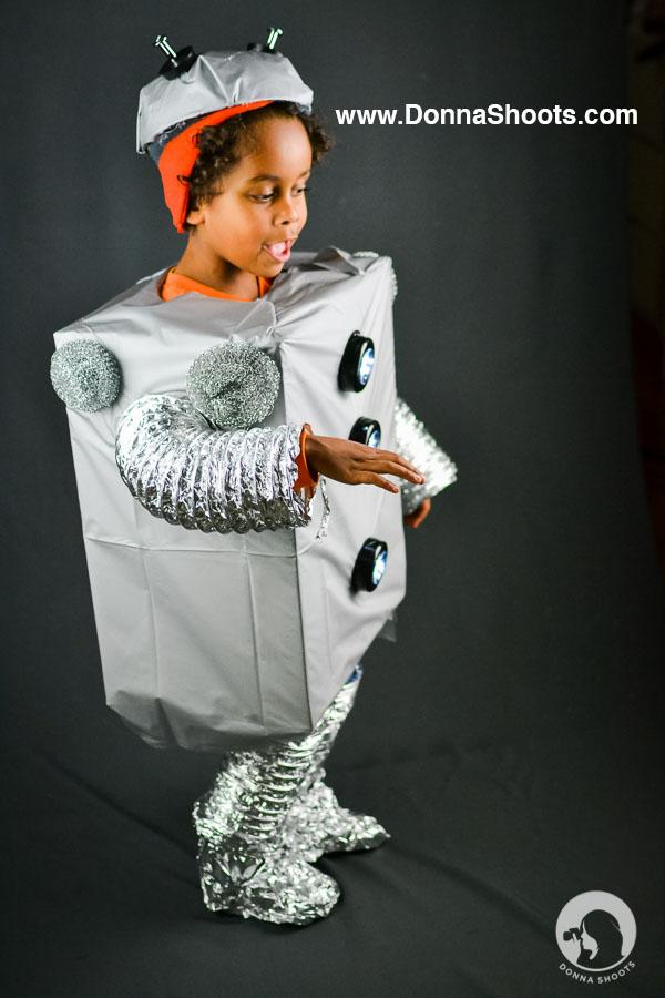 Creative Halloween Costume Robot
