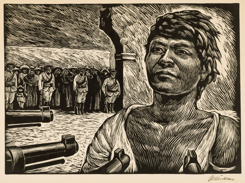 Leopoldo Mendez, The Firing Squad, 1950