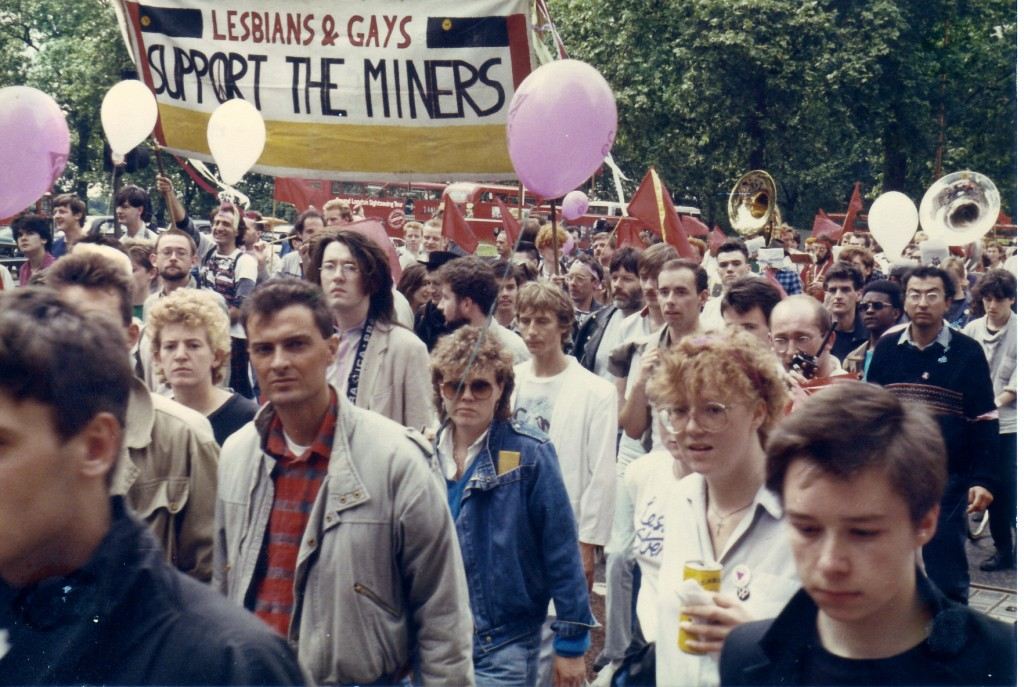 The real-life LGSM, marching in the 1985 pride parade