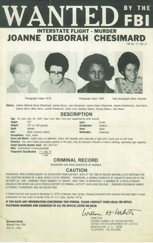 Shakur's wanted poster