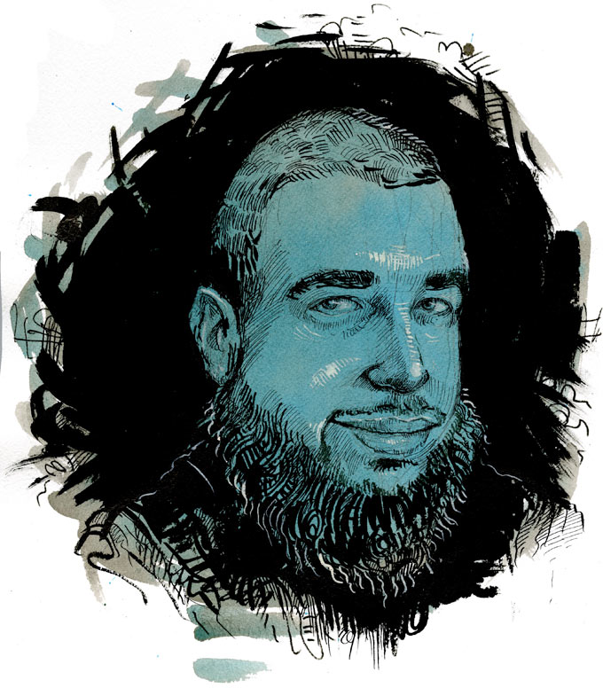 Tarek Mehanna by Molly Crabapple