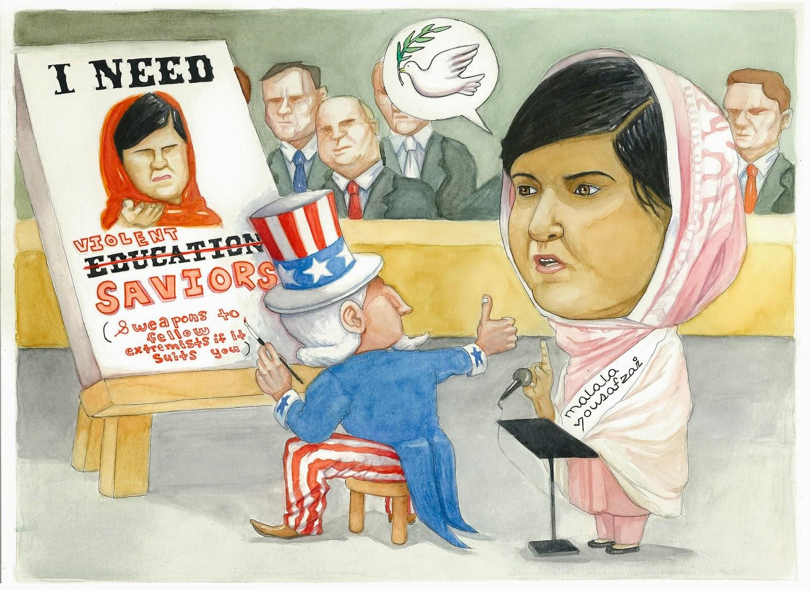 Melanie West's take on the US media portrayal of Malala Yousafzai