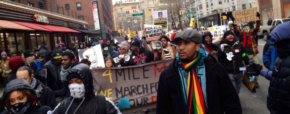 Demonstrators march on January 19th as part of Reclaim MLK Day    (Photo: @AshAgony/Twitter)