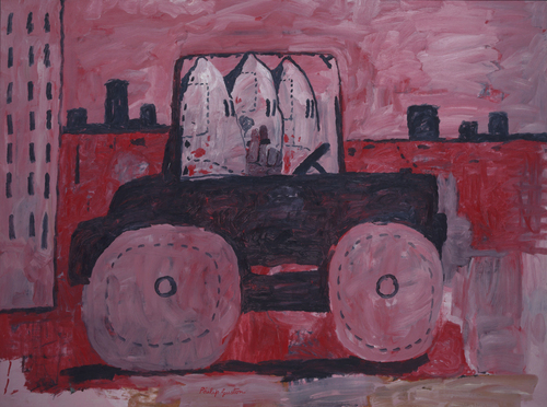 Philip Guston,City Limits (1969),Oil on canvas,7 x 103 1/4 inches