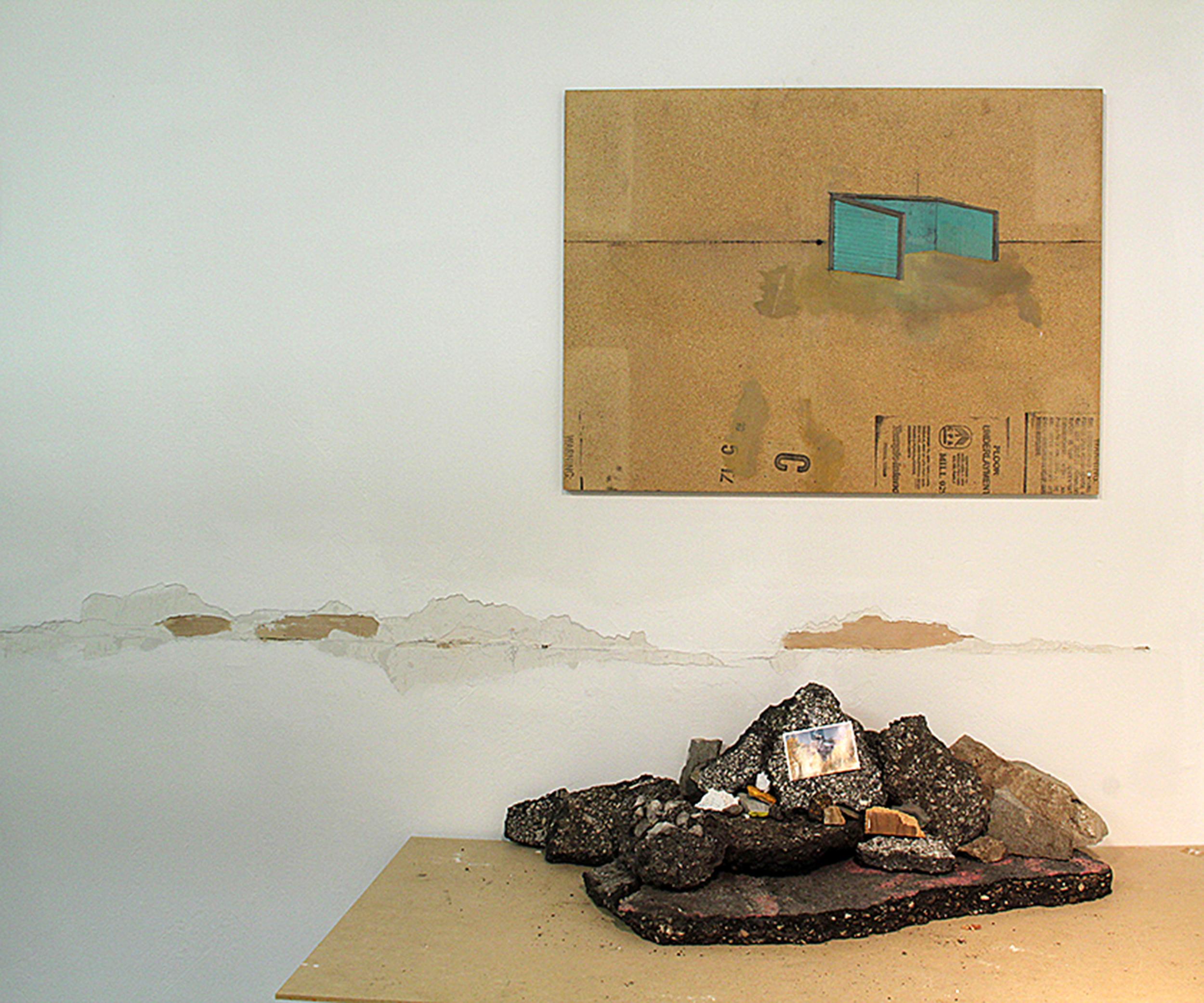 "Danica Radoshevich,""Corral Asphalt,"" painting and installation (2015)"