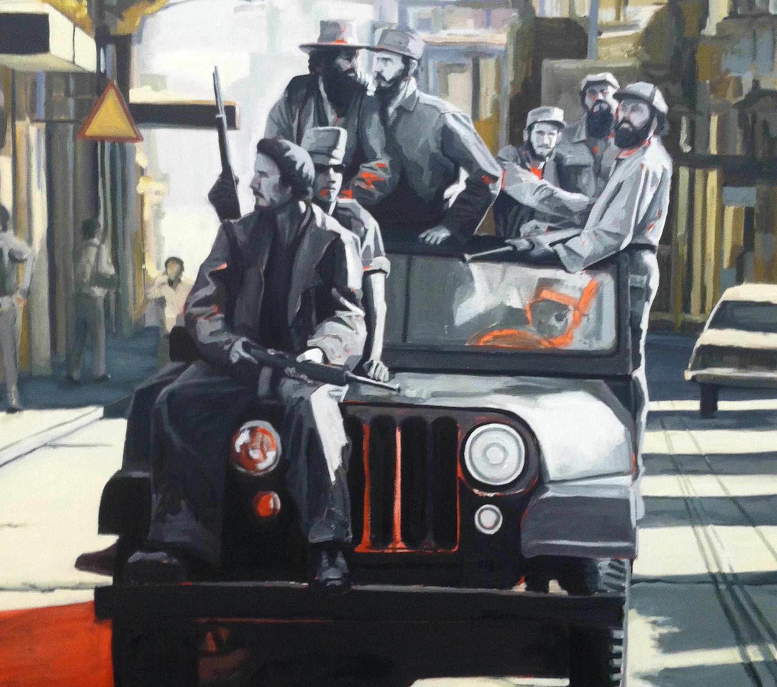 "Ian Matchett,""Vencedores,"" oil on canvas (detail)"