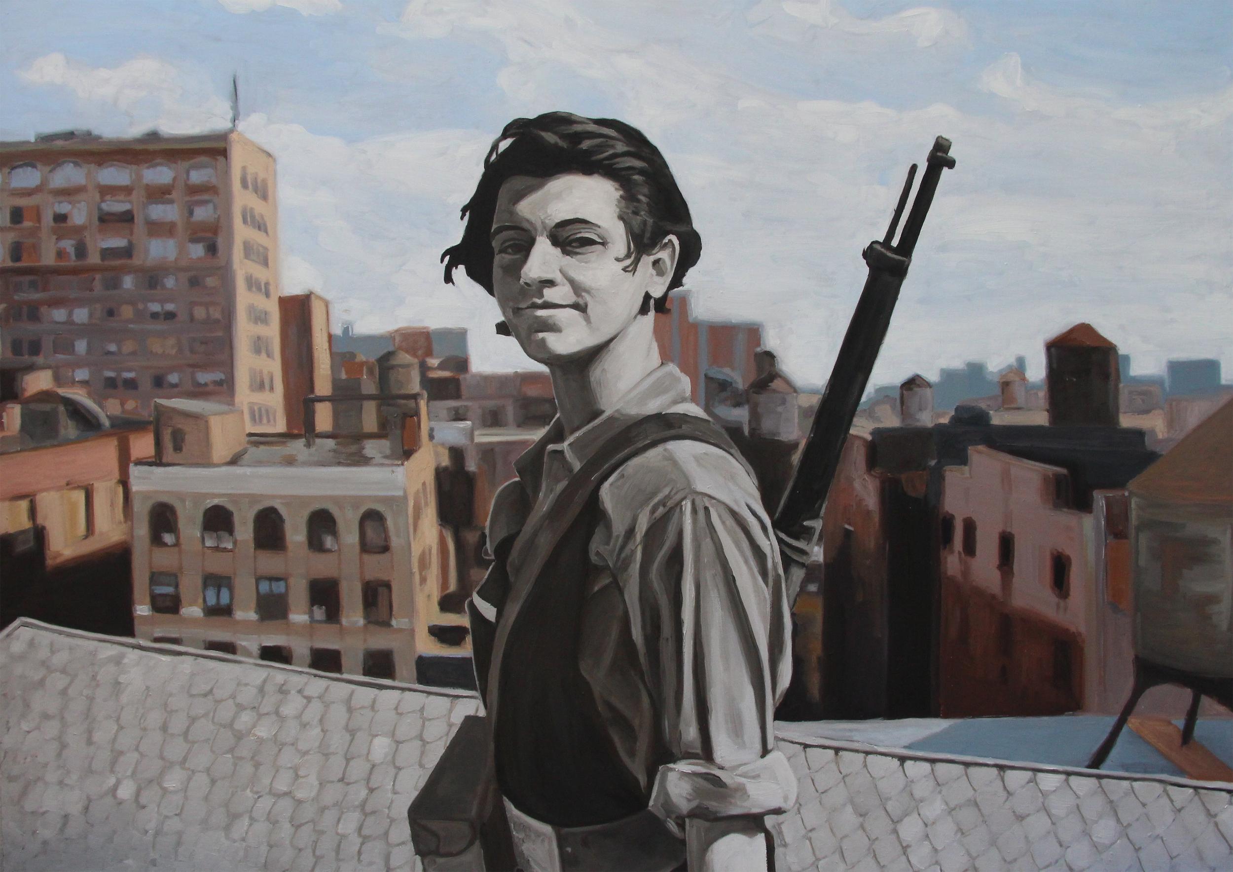 """""""Compañera,"""" oil on canvas, 36""""x 53""""(2012)"""