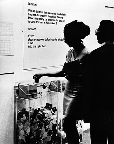 Hans Haacke, MoMA-Poll, 1970