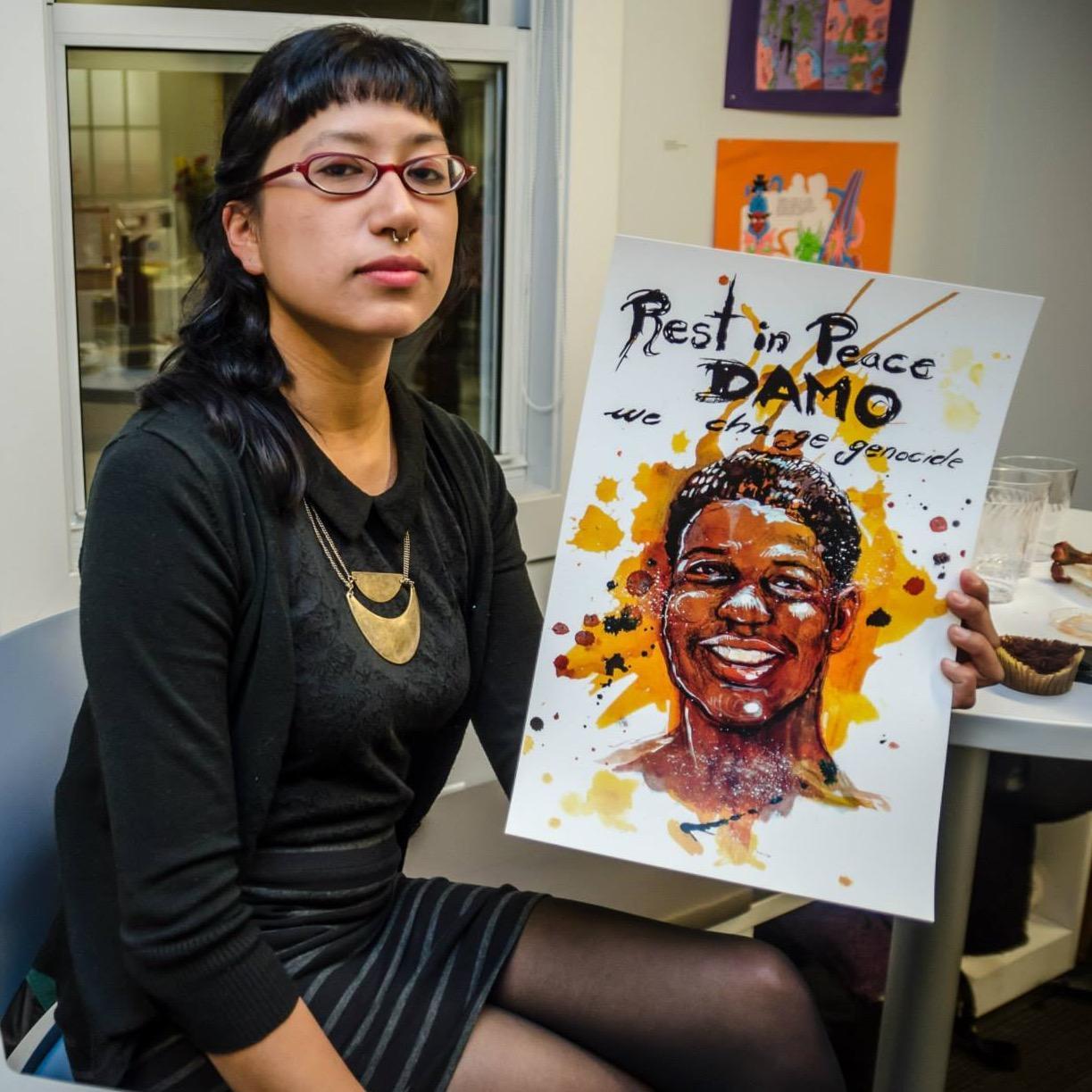 Monica Trinidad with artwork by Molly Crabapple.