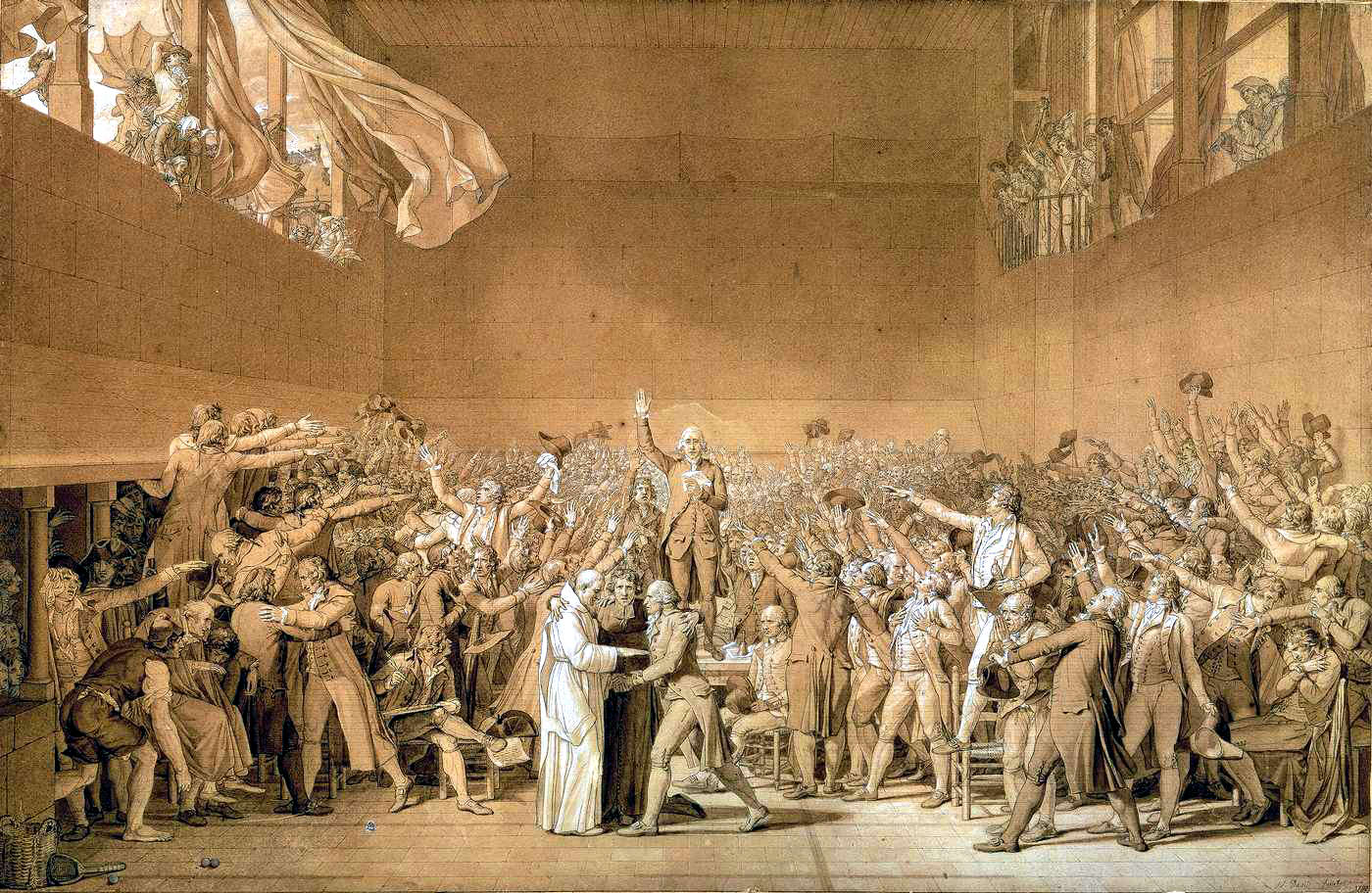 David, sketch for The Tennis Court Oath