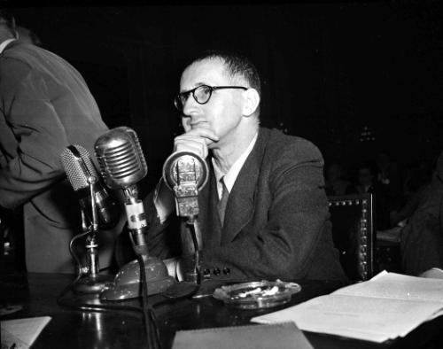 Brecht brought before the House Un-American Activities Committee in 1947