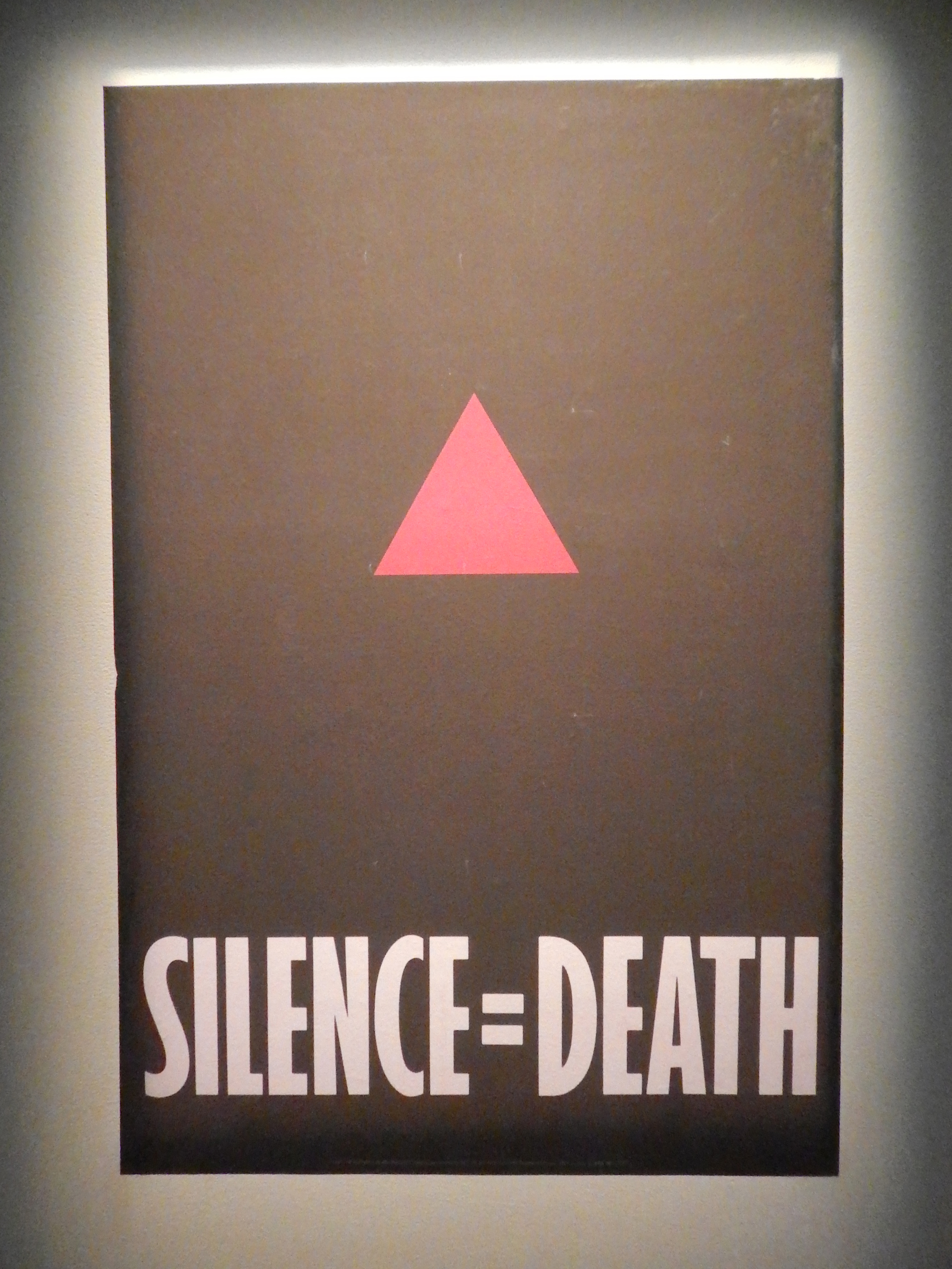 Silence = Death , Poster, offset lithography  (projected documentation), 29 x 24 inches