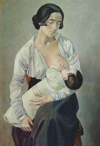 Gino Severini  Maternity , 1916 Oil on canvas 36 1/4 x 25 1/2 inches