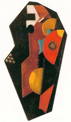 Christian Schad  Portrait of a Woman (Relief) , 1920 Painted wood relief with collage 23 5/8 x 11 3/4 x 4 inches