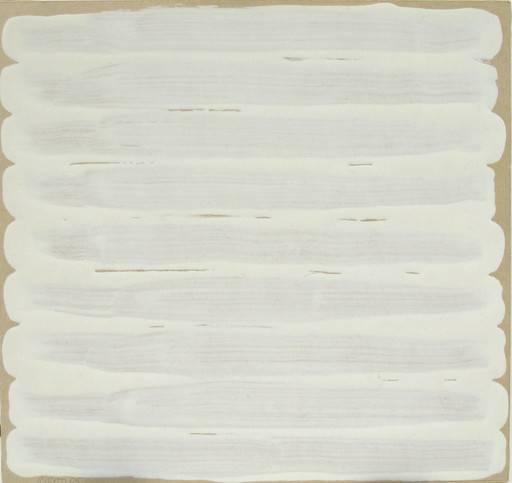 Robert Ryman  Untitled , 1965 Enamel on bristol board 7 3/4 x 8 1/8 inches