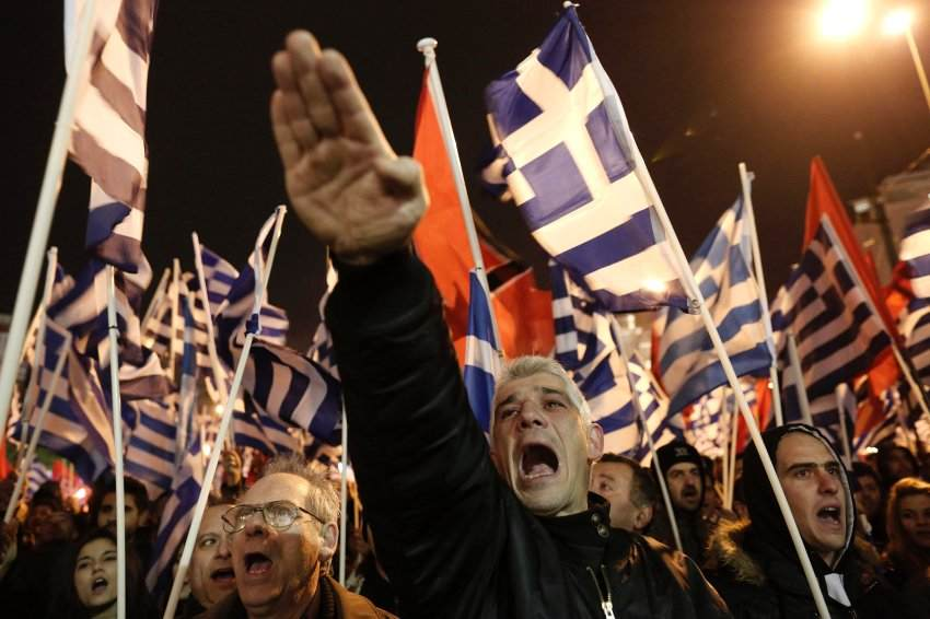 Golden Dawn supporters in Greece.