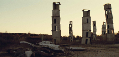 Sophie Fiennes, still from  Over Your Cities Grass Will Grow , showing sculptures by Anselm Kiefer