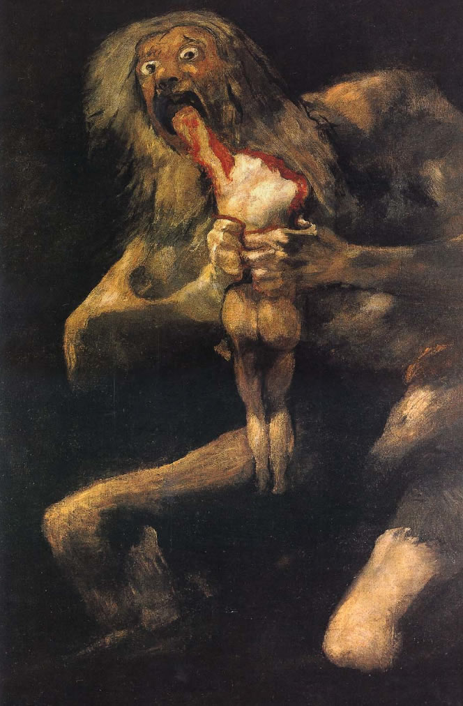Francisco Goya,  Saturn Devouring His Son , 1819-1823