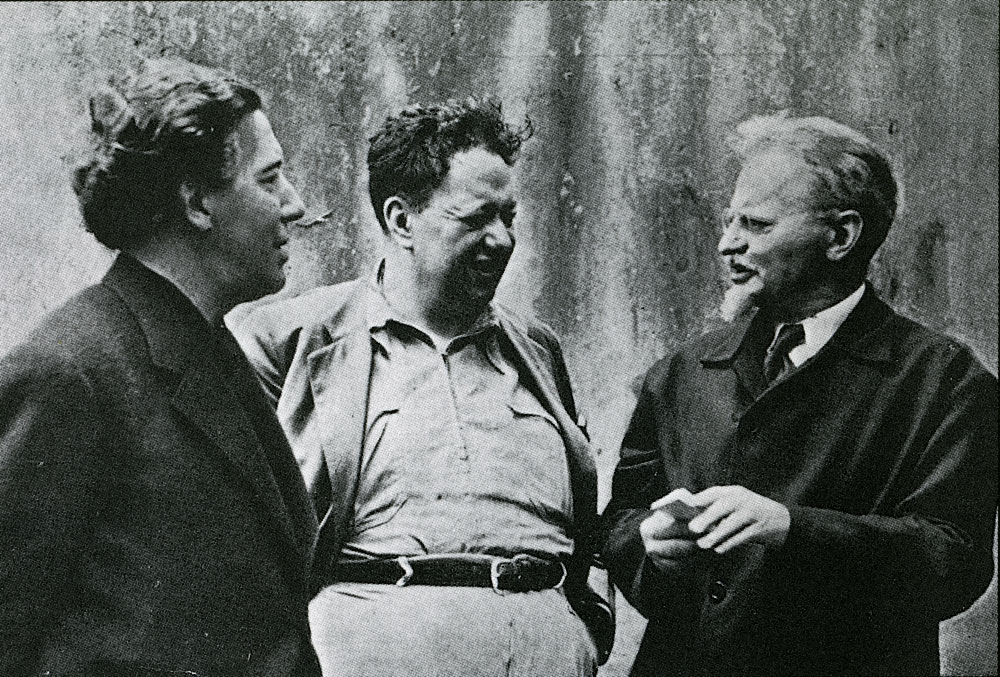 André Breton, Diego Rivera and Leon Trotsky in Mexico City