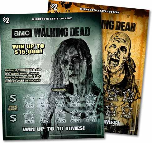 Walking Dead lottery tickets