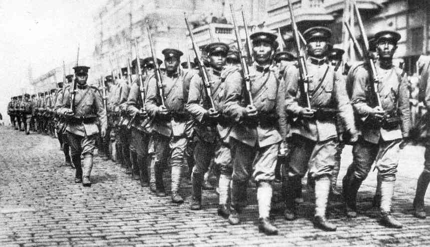Anti-Bolshevik Japanese troops in in Russia during the Civil War (1921)