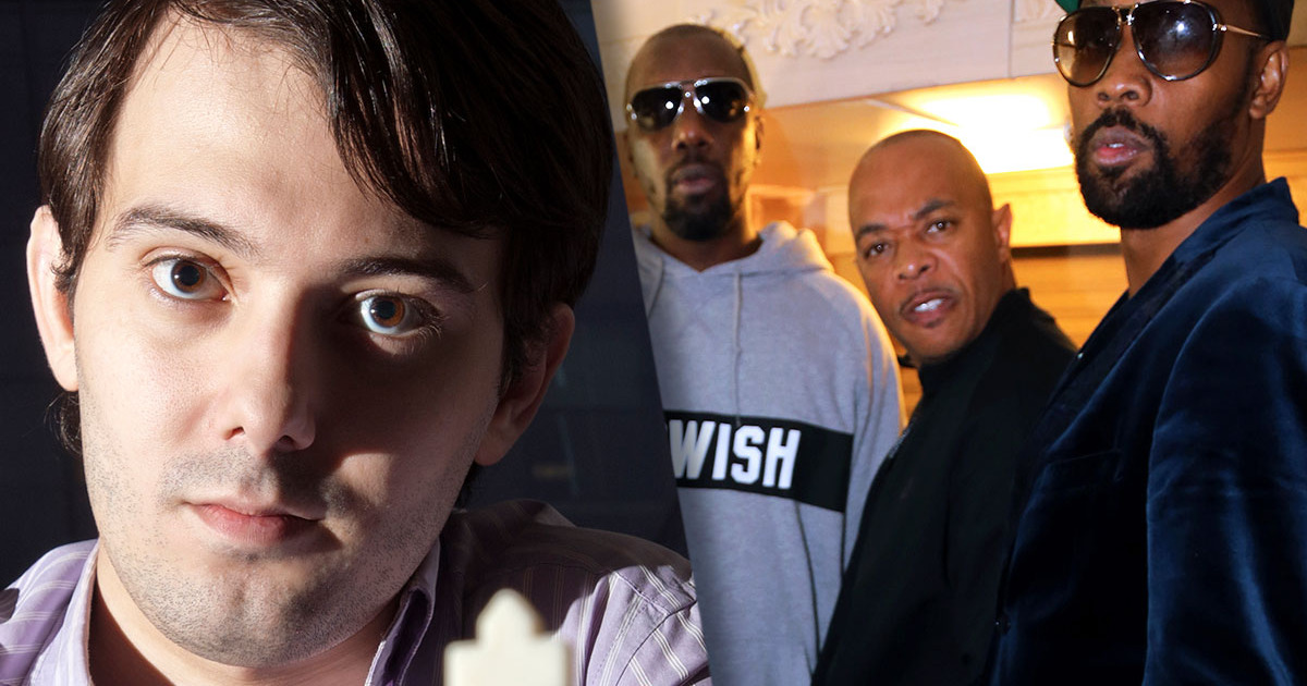 Left: Marin Shkreli. Right: Wu-Tang Clan. (Photo from Getty Images)