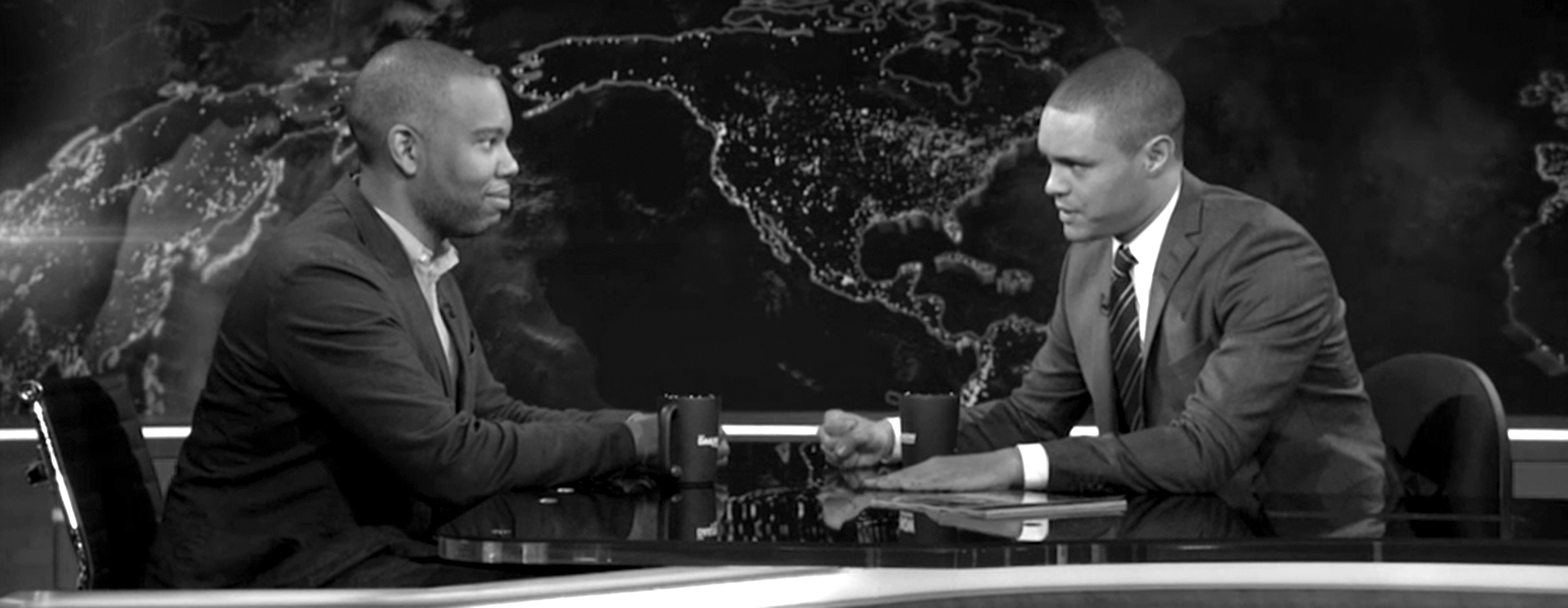 Coates and Trevor Noah on  The Daily Show