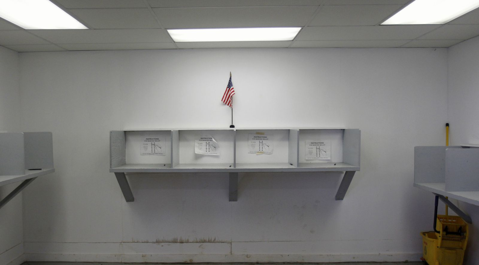 Empty polling place (Reuters/Jessica Rinaldi)
