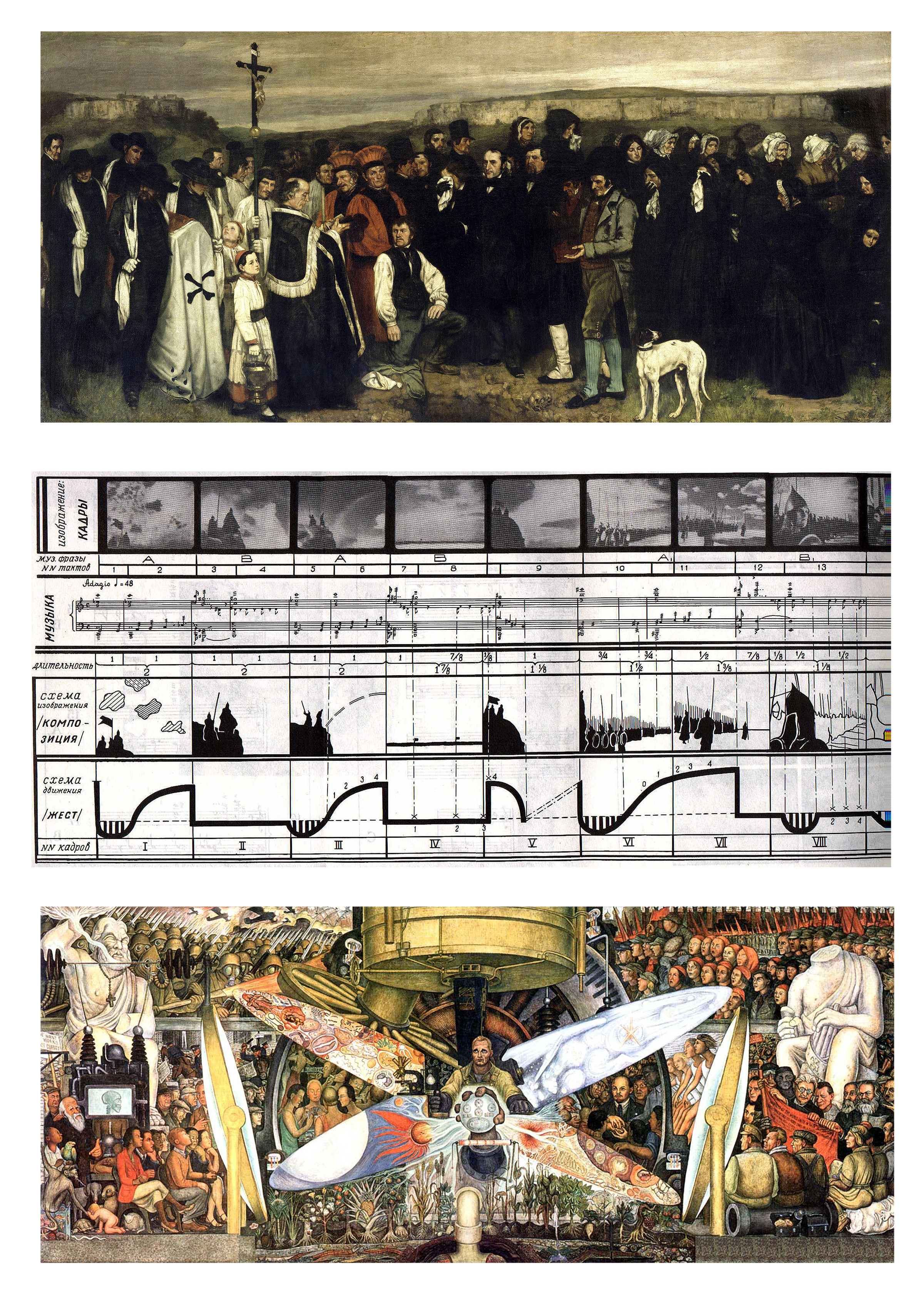 """From the """"other avant-garde"""": Courbet, Eisenstein and Rivera"""
