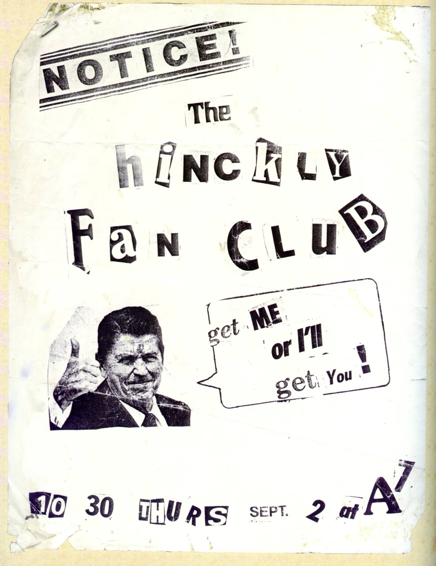The Hinckly Fan Club, aka Cause for Alarm