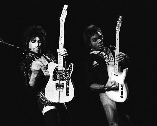 Prince performing in Minneapolis in 1981.