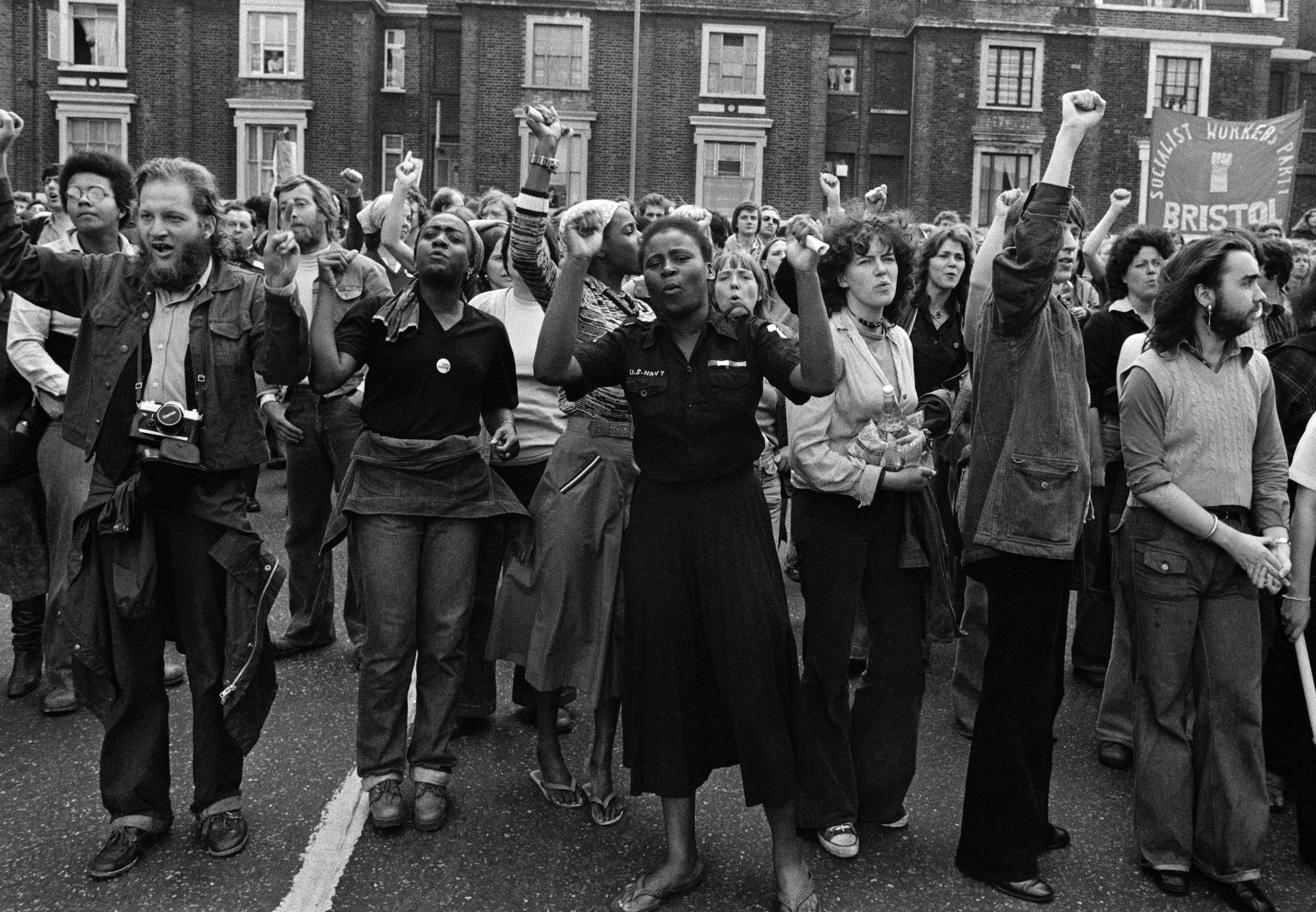 Demonstration against the fascist National Front, circa 1977 (all photos by Syd Shelton)