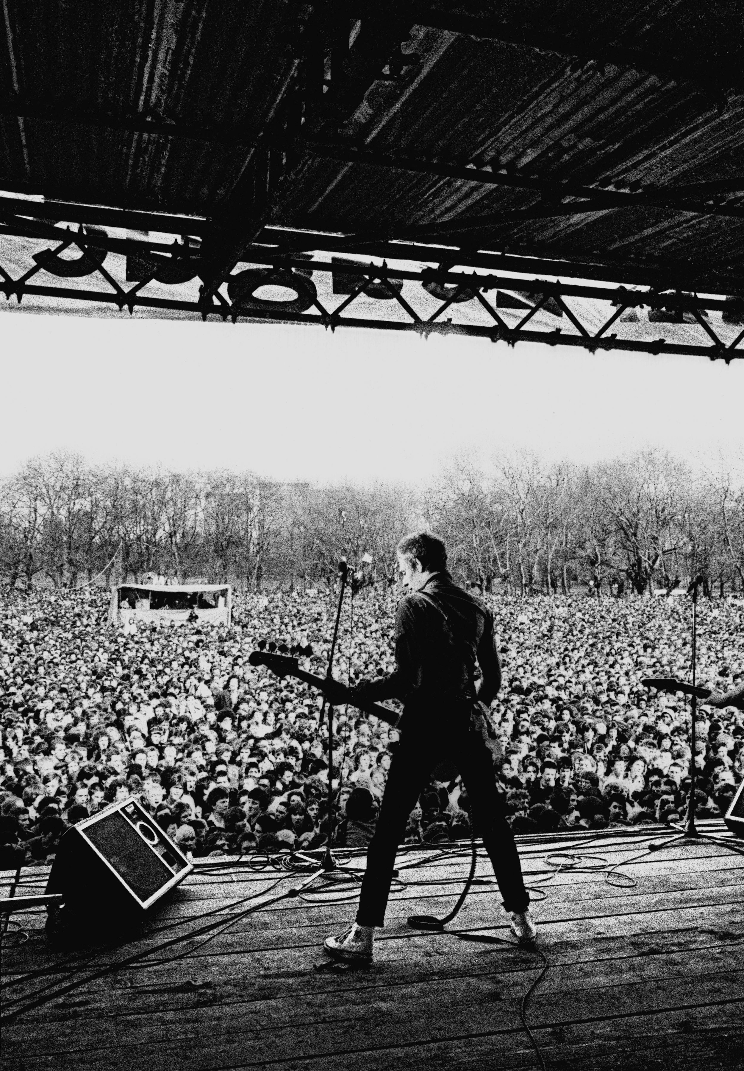 The Clash's Paul Simonon at the Carnival Against the Nazis in April, 1978 (photo by Syd Shelton)