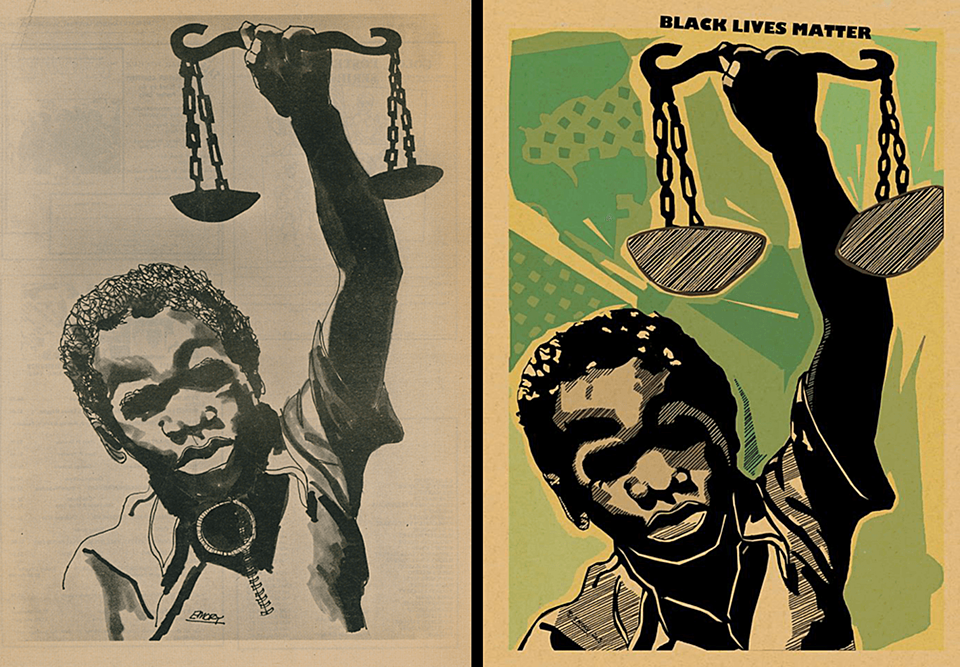 The art of Emory Douglas, remixed for Black Lives Matter