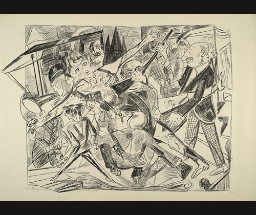 Max Beckmann,  The Martyrdom  (of Rosa Luxemburg)