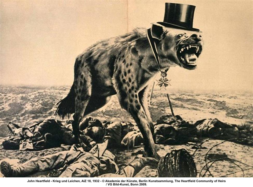 John Heartfield,  War and Corpses  (1932).